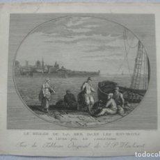 Arte: GRABADO AL ACERO DE UNA PINTURA DE JACOB PHILIPP HACKERT (1737-1807) POR ANTONIO SUNTACH (1744-1828). Lote 133565750
