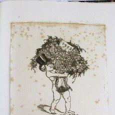 Arte: L-5103. GRABADO ALEMÁN FELICITANDO EL AÑO NUEVO 1923. 44/100 NUMERADO Y FIRMADO.. Lote 133580130