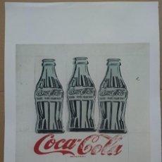 Arte: GRABADO ORIGINAL DE ANDY WARHOL,COCA COLA,NUMERADO A LAPIZ,CON FIRMA Y MARCA DE AGUA,57X38 CMS . Lote 133628802