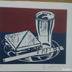 Arte: ROY LICHTENSTEIN ,GRABADO ORIGINAL,SANDWICH AND SODA, 1964 PRUEBA DEL ARTISTA. MIDE 30 X 21 CMS . Lote 133629502