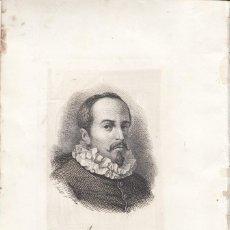 Arte: GRABADO. JUAN RUIZ DE ALARCÓN, NACIDO EN TAXCO, MÉXICO. AÑO 1871. TEATRO. Lote 133709782