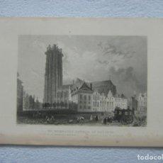 Arte: ORIGINAL GRABADO AL ACERO DE WILLIAM HENRY BARTLETT (1809-1854) POR J.WOODS ALREDEDOR DE 1840. Lote 133743390