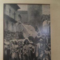 Arte: GRABADO SOBRE CUADRO DE RAMÓN TUSQUETS. Lote 133745346