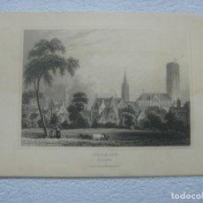 Arte: -MECHLIN MALINES- BELGICA-ORIGINAL GRABADO AL ACERO POR J.SHURY & SON ALREDEDOR DE 1840. Lote 133745422