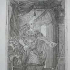Arte: PRECIOSO GRABADO AL ACERO DEL REY CARLOS III DE ESPAÑA (1716-1788) ALREDEDOR DE 1800. Lote 133751910