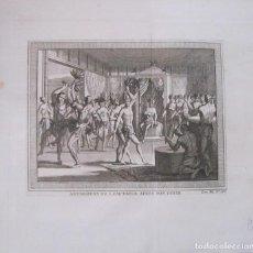 Arte: DANZA RITUAL DESPUÉS DEL BANQUETE IMPERIAL AZTECA (MÉXICO, AMÉRICA), 1754. N. BELLIN/ A. PREVOST. Lote 133755610