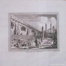 Arte: CEMENTERIO DE LOS SACRIFICIOS AZTECAS (MÉXICO, AMÉRICA), 1754. N. BELLIN/ A. PREVOST. Lote 133770574