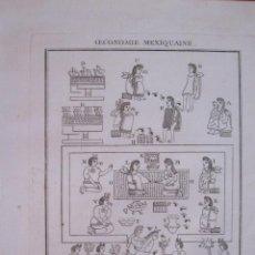 Arte: ECONOMÍA AZTECA (MÉXICO, AMÉRICA )1754. N. BELLIN/ A. PREVOST. Lote 133770842