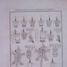 Arte: PRODUCTOS NATURALES Y TRIBUTOS AZTECAS (MÉXICO, AMÉRICA), 1754. N. BELLIN/ A. PREVOST. Lote 133771378