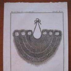 Arte: COLLAR MILITAR DE LOS NATIVOS DE LOS MARES DEL SUR ( ASIA), 1754. N. BELLIN/ A. PREVOST. Lote 133773286