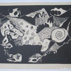 Arte: JUAN JOSÉ TORRALBA (1937), CARACOL, GRABADO, 1968, TIRAJE 7/75. 77X57CM. Lote 133797250