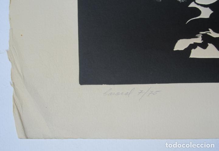 Arte: Juan José Torralba (1937), Caracol, grabado, 1968, tiraje 7/75. 77x57cm - Foto 2 - 133797250