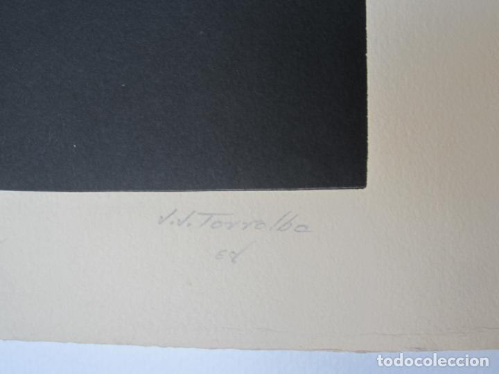 Arte: Juan José Torralba (1937), Caracol, grabado, 1968, tiraje 7/75. 77x57cm - Foto 3 - 133797250