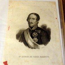 Arte: GRABADO. CONDE DE CASA MAROTO. RETRATO. S.XIX.. Lote 133805942