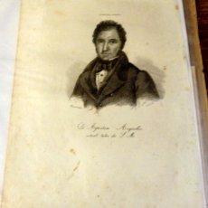 Arte: AGUSTÍN ARGÜELLES. GRABADO AL ACERO. 1842. RIBADESELLA. ASTURIAS. 25 X 17 CM.. Lote 133806418