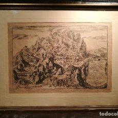 Arte: GRABADO FRANCES DE MONTSERRAT DE 1701. Lote 133838774