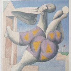 Arte: PABLO PICASSO GRABADO ORIGINAL FIRMADO A LAPIZ,NUMERADO Nº 10/100,BAÑISTA CON..., 30X20.5 CMS. Lote 133891214