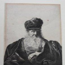 Arte: REMBRANDT, HARMENSZ VAN RIJN. GRABADO DE 1632, ORIGINAL.. Lote 134045790
