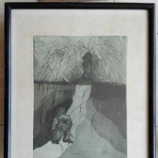 Arte: E. NARANJO - GRABADO ENMARCADO CRISTAL 49 X 39 - FIRMADO Y NUMERADO. Lote 134069950