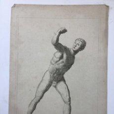 Arte: GRAN GRABADO EN COBRE DE CLAUDE MELLAN (1598-1688) LE GLADIATEUR, ALREDEDOR DE 1650. 36X25 CMS. Lote 134148846