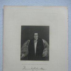Arte: GRAN RETRATO EN MEZZOTINTA DE DANIEL WILSON LORD BISHOP DE CALCUTA FECHADO EN 1845, FIRMADO. Lote 134283962