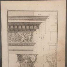Arte: JACOPO BAROZZI II VIGNOLA. GRABADO DEL TRATADO DE LOS CINCO ÓRDENES DE ARQUITECTURA.. Lote 134328822