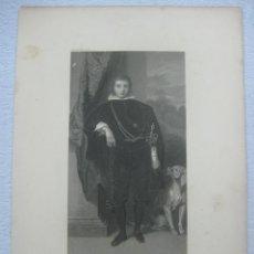 Arte: GRABADO AL ACERO RETRATRO DEL PRINCIPE RUPERT DE UN CUADRO DE ANTHONIUS VAN DYCK (1599-1641) DE 1850. Lote 134366546