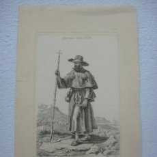Arte: PRECIOSA AGUAFUERTE DE JOHANN ADAM KLEIN (1792-1875) EL PEREGRINO ESPAÑOL FIRMADO EN 1835. Lote 132638202