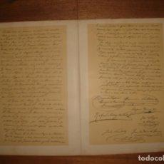 Arte: GRABADO FACSIMIL CONVENIO DE VERGARA, CARLISMO, ORIGINAL, 1882, BARCELONA,PUJADAS.. Lote 134420778