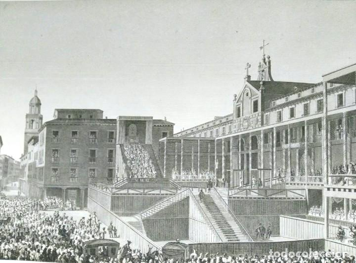 Arte: Grabado antiguo Valladolid auto de Fe Año 1808 con certif. autent. Grabados antiguos Valladolid - Foto 2 - 134538094