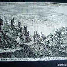 Arte: 1707-ALHAMBRA DE GRANADA. GRABADO. ORIGINAL DE JUAN ALVAREZ DE COLMENAR. Lote 134855658