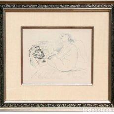 Arte: GRABADO DE PABLO PICASSO, 1952 - VALOR EN GALERIA 2500- LIQUIDACIÓN. Lote 135037034