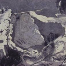 Arte: JORGE CASTILLO (PONTEVEDRA 1933) GRABADO DE 58,2X76,5. AÑO 1973, 24/90. HOMENAJE A PICASSO.. Lote 135504642