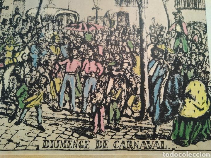 Arte: LOTE DE 9 GRABADOS BARCELONA SIGLO XIX .ALGUNOS FIRMADOS Y COLOREADOS A MANO - Foto 5 - 135713459