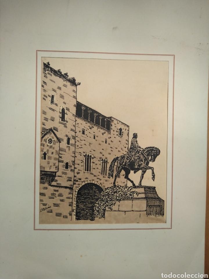 Arte: LOTE DE 9 GRABADOS BARCELONA SIGLO XIX .ALGUNOS FIRMADOS Y COLOREADOS A MANO - Foto 8 - 135713459