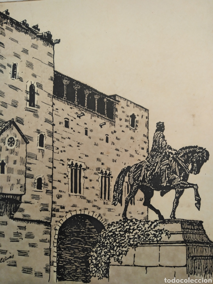 Arte: LOTE DE 9 GRABADOS BARCELONA SIGLO XIX .ALGUNOS FIRMADOS Y COLOREADOS A MANO - Foto 9 - 135713459