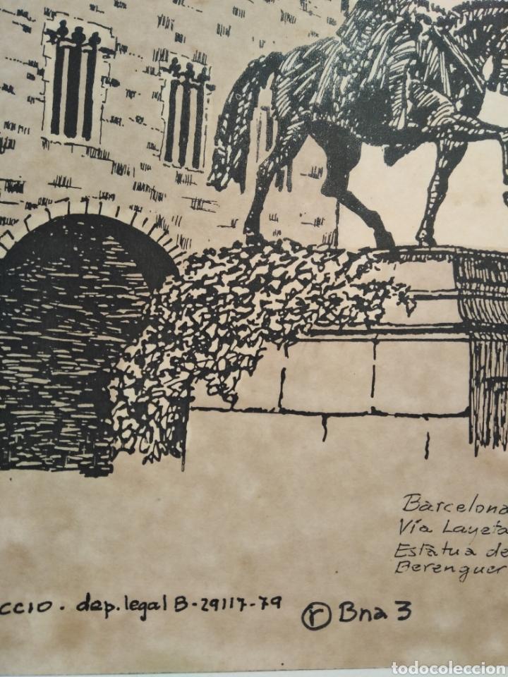 Arte: LOTE DE 9 GRABADOS BARCELONA SIGLO XIX .ALGUNOS FIRMADOS Y COLOREADOS A MANO - Foto 11 - 135713459