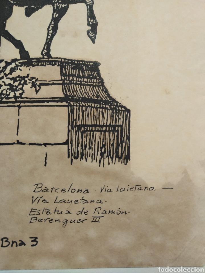 Arte: LOTE DE 9 GRABADOS BARCELONA SIGLO XIX .ALGUNOS FIRMADOS Y COLOREADOS A MANO - Foto 12 - 135713459