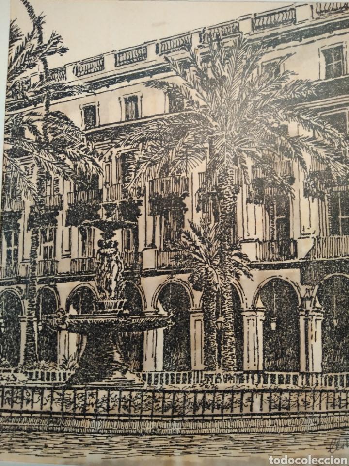 Arte: LOTE DE 9 GRABADOS BARCELONA SIGLO XIX .ALGUNOS FIRMADOS Y COLOREADOS A MANO - Foto 14 - 135713459