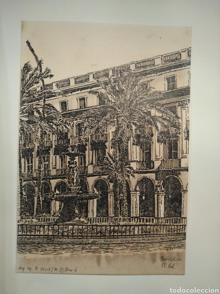 Arte: LOTE DE 9 GRABADOS BARCELONA SIGLO XIX .ALGUNOS FIRMADOS Y COLOREADOS A MANO - Foto 15 - 135713459