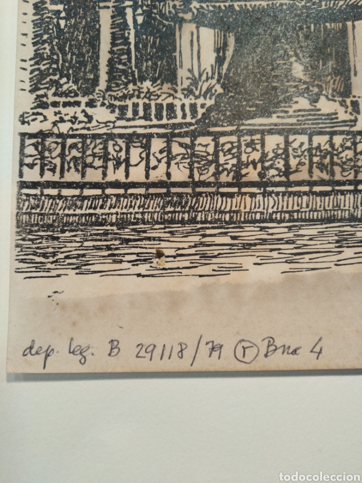 Arte: LOTE DE 9 GRABADOS BARCELONA SIGLO XIX .ALGUNOS FIRMADOS Y COLOREADOS A MANO - Foto 17 - 135713459
