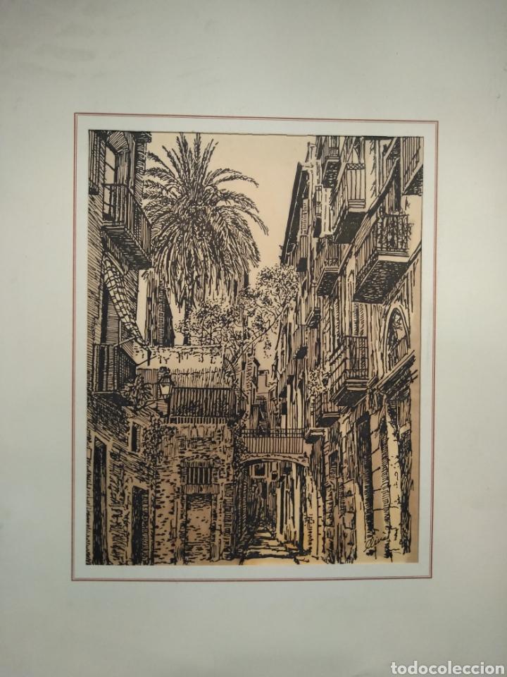 Arte: LOTE DE 9 GRABADOS BARCELONA SIGLO XIX .ALGUNOS FIRMADOS Y COLOREADOS A MANO - Foto 18 - 135713459