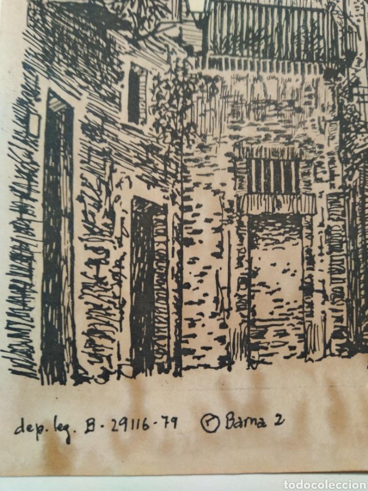 Arte: LOTE DE 9 GRABADOS BARCELONA SIGLO XIX .ALGUNOS FIRMADOS Y COLOREADOS A MANO - Foto 21 - 135713459