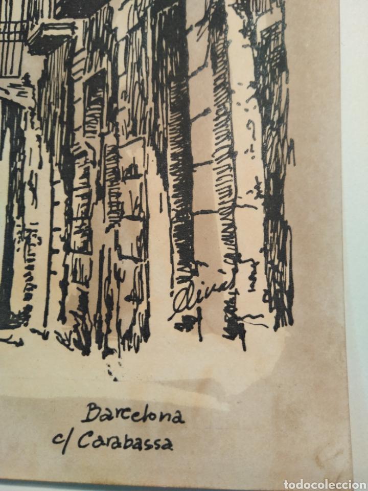 Arte: LOTE DE 9 GRABADOS BARCELONA SIGLO XIX .ALGUNOS FIRMADOS Y COLOREADOS A MANO - Foto 22 - 135713459
