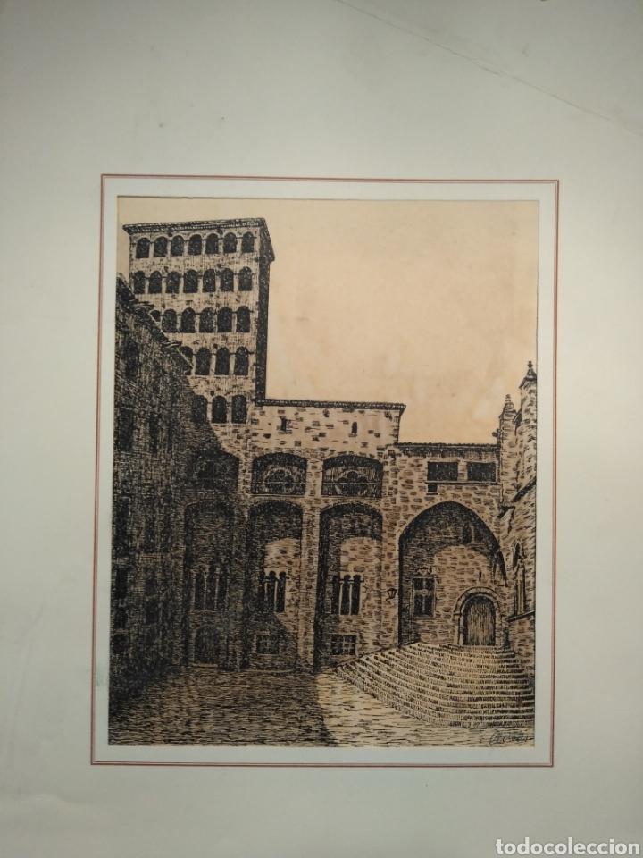 Arte: LOTE DE 9 GRABADOS BARCELONA SIGLO XIX .ALGUNOS FIRMADOS Y COLOREADOS A MANO - Foto 23 - 135713459