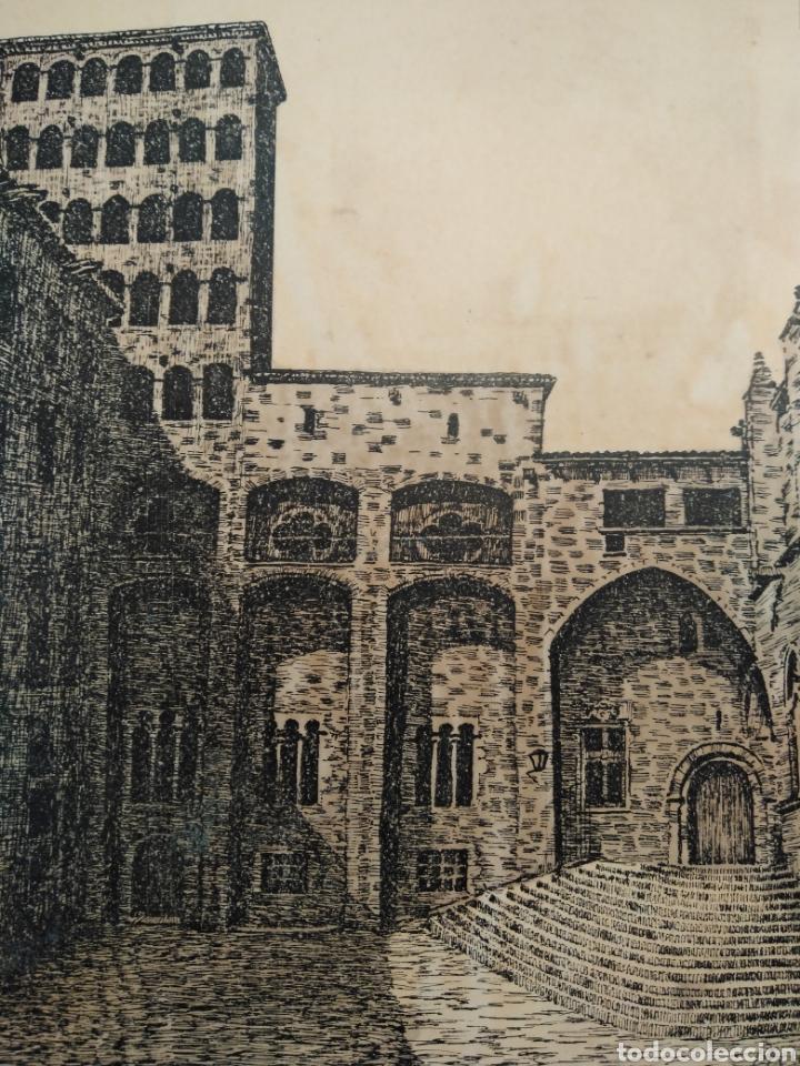 Arte: LOTE DE 9 GRABADOS BARCELONA SIGLO XIX .ALGUNOS FIRMADOS Y COLOREADOS A MANO - Foto 24 - 135713459