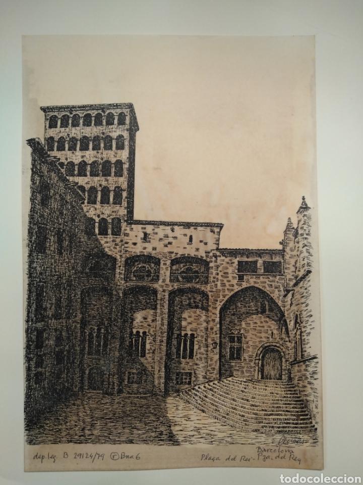 Arte: LOTE DE 9 GRABADOS BARCELONA SIGLO XIX .ALGUNOS FIRMADOS Y COLOREADOS A MANO - Foto 25 - 135713459