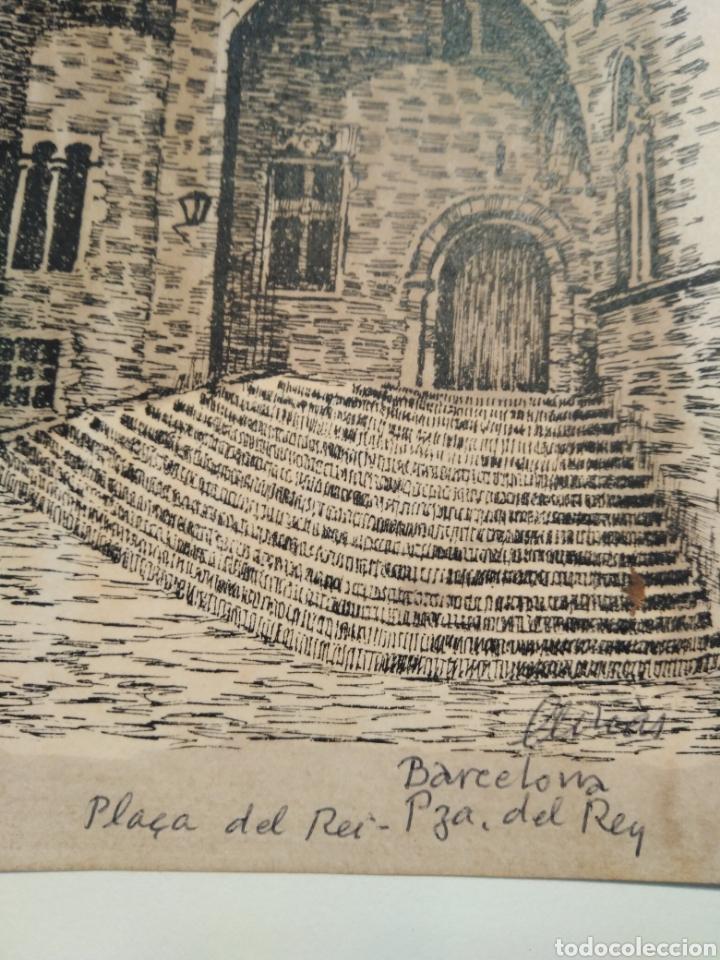 Arte: LOTE DE 9 GRABADOS BARCELONA SIGLO XIX .ALGUNOS FIRMADOS Y COLOREADOS A MANO - Foto 27 - 135713459