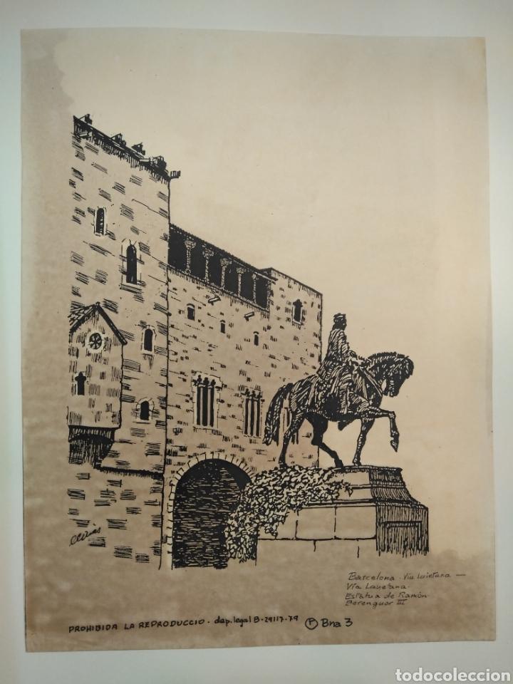 Arte: LOTE DE 9 GRABADOS BARCELONA SIGLO XIX .ALGUNOS FIRMADOS Y COLOREADOS A MANO - Foto 29 - 135713459