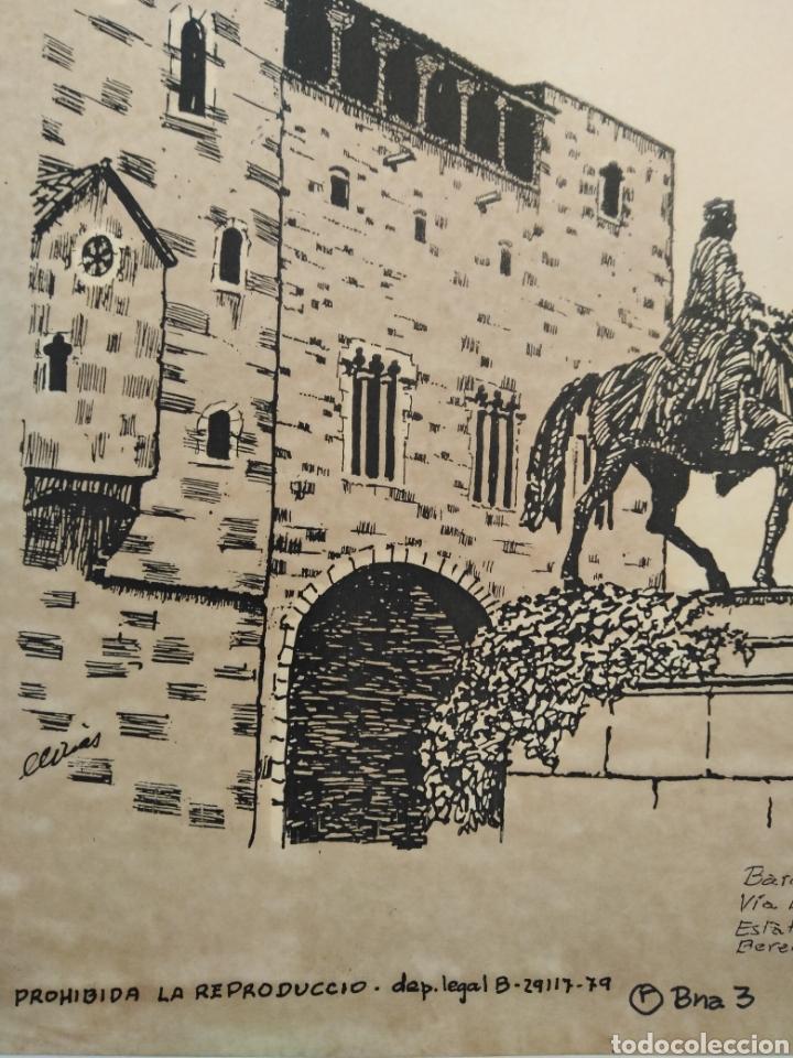 Arte: LOTE DE 9 GRABADOS BARCELONA SIGLO XIX .ALGUNOS FIRMADOS Y COLOREADOS A MANO - Foto 30 - 135713459